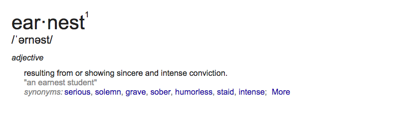 Earnest Definition