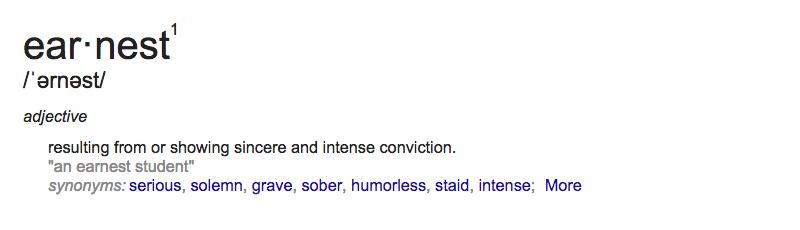 Earnest Definition